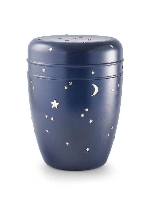 dunkelblaue Seeurne mit Sternen